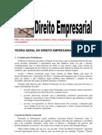 Teoria Geral Direito Empresarial