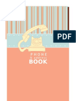 Phone Address Book Printable