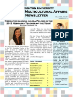 Office of Multicultural Affairs Newsletter Spring 2012- Issue 4