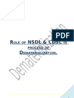 23827831 Role of NSDL CDSL in Process of Dematerialization
