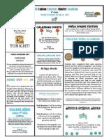 Newsletter 5-18-2012