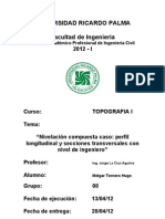Caso Perfil Longitudinal y Secciones Transversales Con Nivel de Ingeniero