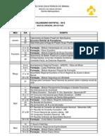 Calendário Distrital 2012 - PDF