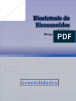 Biosintesis de Eicosanoides