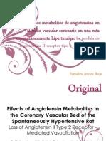 Efectos de los metabolitos de angiotensina en el lecho vascular coronario en una rata esponatáneamente hipertensiva La pérdida de angiotensina II receptor tipo 2 Vasodiltación mediada