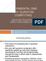 Experimental One-Way Quantum Computing