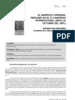 Antonio San Cristobal El Barroco Virreinal Peruano en El III Congreso Internacional Sevilla- Octubre Del 2001