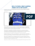 Facebook en La Bolsa de Valores de New York