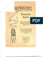AMORC - Rosicrucian Initiation Neophyte Guide 1927
