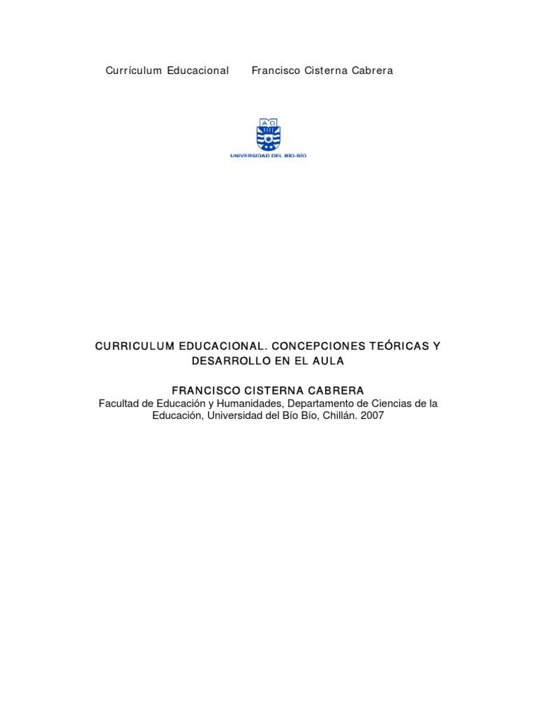 Curriculum Educacional. Teoria y praxis en el contexto chileno