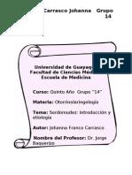 Sordomudez - introducción y etiología
