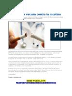 Crean Una Vacuna Contra La Nicotina