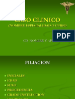 Model Caso Clinico Odonto