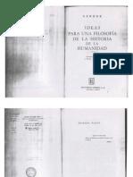 J. G. Herder  -  Ideas para una filosofía de la historia de la humanidad
