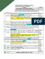 Cronograma Actividades (diseño tecnologico Instruccional)