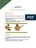Leccion 1 guitarra