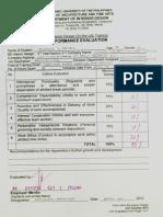 Evaluation Form - Architecture