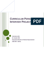 curriculum personnel interview project