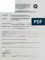 Certificate of Acceptance - Furniture