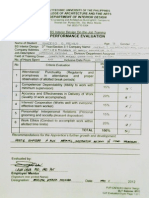 Evaluation Form - Interior Design