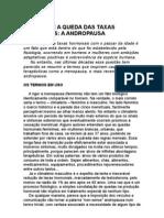 O Homem e a Queda Das Taxas Hormonais - usa - José Carlos Brasil Peixoto - a