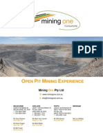 M1 Open Pit Experience Mining Feb 2011