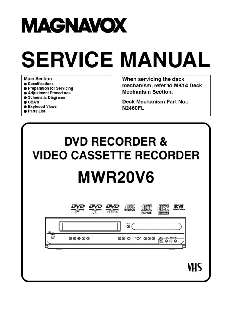 magnavox dvd vcr wiring diagram wiring library magnavox mwr20v6 service manual ering electrical connector magnavox dvd vcr manual magnavox dvd vcr wiring diagram
