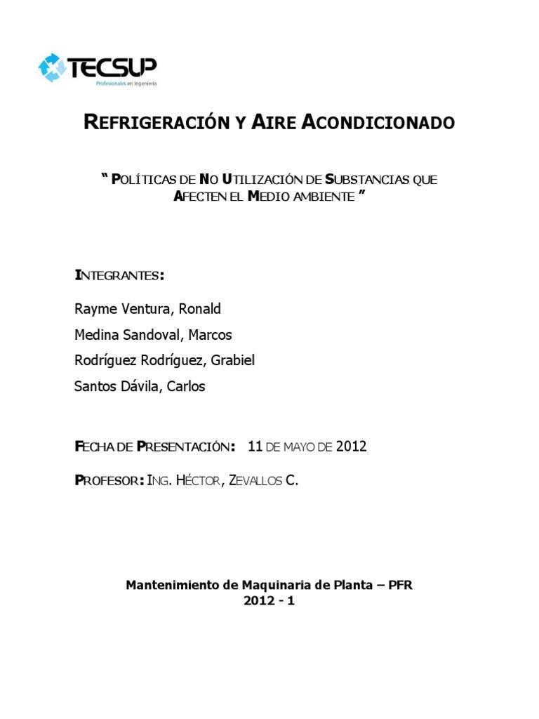Refrigeración y Aire Acondicionado - Buenas Prácticas de Refrigeración