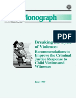 Breaking the Cycles of Violence 1999 - USDOJ