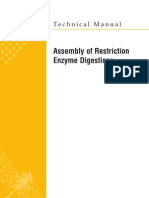 Assembly of Restriction Enzyme Digestions