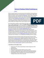 Aspek Dan Kriteria Penilaian Media Pembelajaran