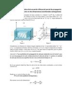 Ecuación de conducción de calor bidimensional