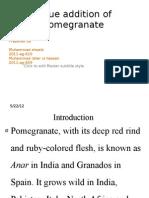 Value Addition of Pomegranate