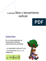 Caída libre y lanzamiento vertical