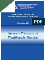 Norma y Protocolo de Planificacion Familiar