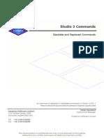 Studio 3 Commands