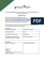 Application for Postgraduate