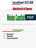 Binomial, Poisson y Curva Normal