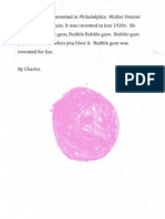 Bubble Gum Writing