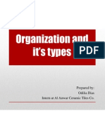 Organization and the Different Types