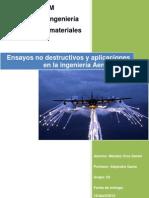 Ensayos no destructivos aplicacidos a la ingeniería aeronáutica