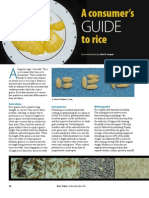 RT Vol. 10, No. 4 A consumer's guide to rice