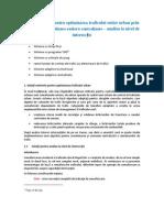 Analiza Sistemelor de Optimizare La Nivel de Inter Sec Tie