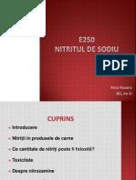 E250- Nitritul de Sodiu