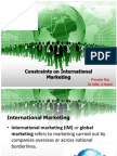 Constraints on International Marketing