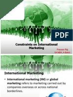 Constraints on International Marketing
