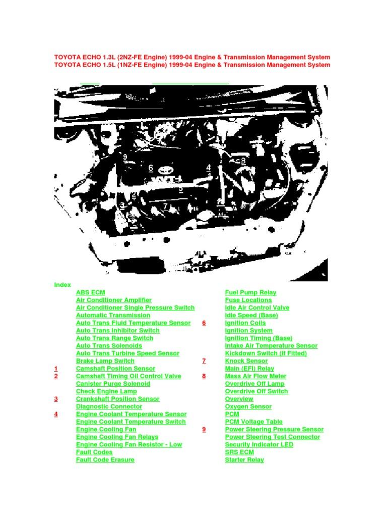1nz 2nz ignition system automatic transmission on vitz ecu wiring diagram 2000 Toyota 3 4 Schematic Diagrams 4Runner Engine Wiring Diagram