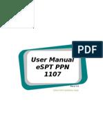 User Manual eSPT PPN 1107 Ver 3.0