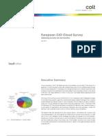 CIO Cloud Survey 04.2011