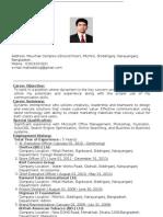 Resume of Mahedi Hasan